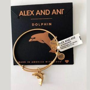 NWT ALEX & ANI DOLPHIN EXPANDABLE CHARM BRACELET